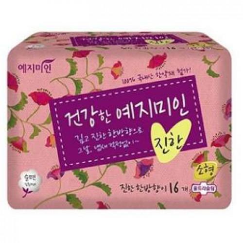 Прокладки гигиенические Натуральный хлопок 16шт (малые) Yejimiin Rich Herb Cotton Sanitary Pads 16P (230 мм) Small