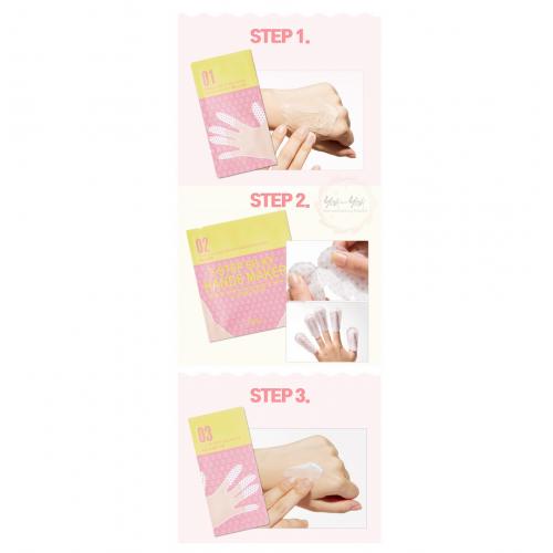 Трехэтапная маска для рук и ногтей A'PIEU 3-Step Silky Hands Maker