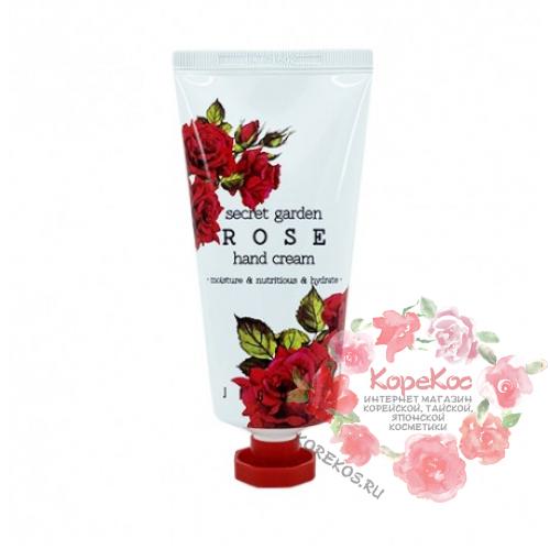 Крем для рук с экстрактом розы Jigott SECRET GARDEN HAND CREAM Rose