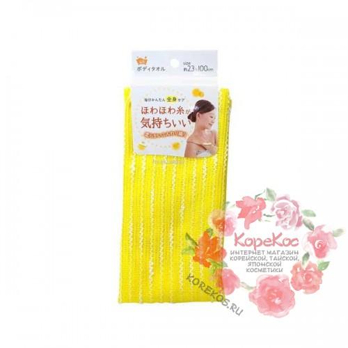 Мочалка для женщин (мягкая с объемными нитями) 23*100 см