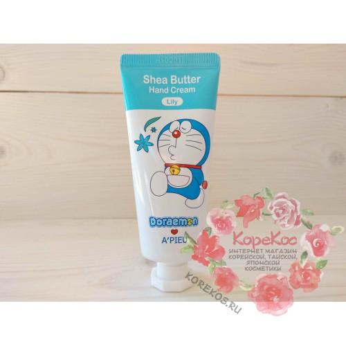 Крем для рук A'PIEU Shea Butter Hand Cream (Lily) [Doraemon Edition]