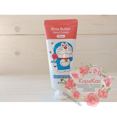 Крем для рук A'PIEU Shea Butter Hand Cream (Rose) [Doraemon Edition]