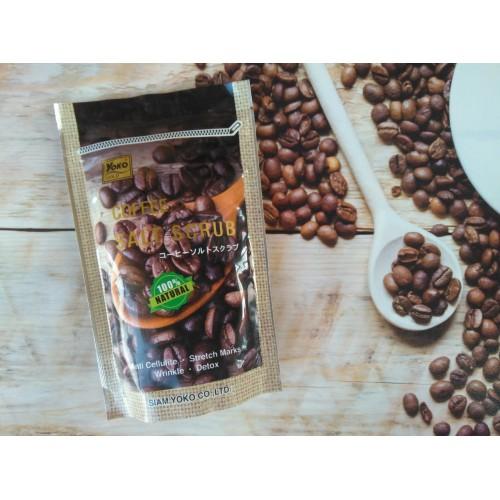 Антицеллюлитный соляной скраб с кофе Gold coffee salt scrub shower bath 280 гр