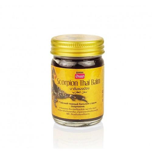 Черный тайский бальзам с ядом скорпиона Banna 50 гр