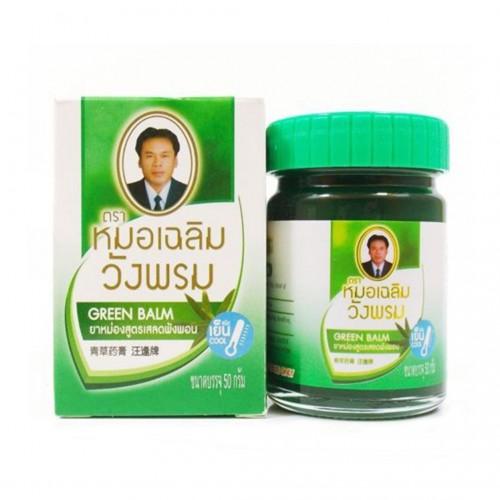 Тайский зелёный бальзам с клинакантусом Wangprom 100 гр