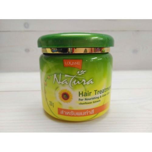 """Маска для волос с экстрактом подсолнечника """"Питание и Защита цвета"""" LOLANE NATURA 250 гр"""