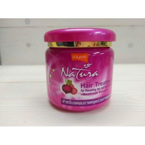Маска для поврежденных выпадающих волос с экстрактом свеклы LOLANE NATURA 250 гр