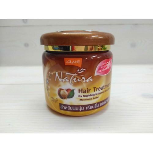 """Маска для волос с маслом макадамии """"Питание и Бриллиантовый блеск"""" LOLANE NATURA 250 гр"""