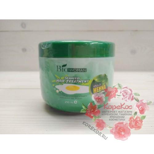 Маска для волос с экстрактом морской водоросли BioWoman seaweed hair treatment