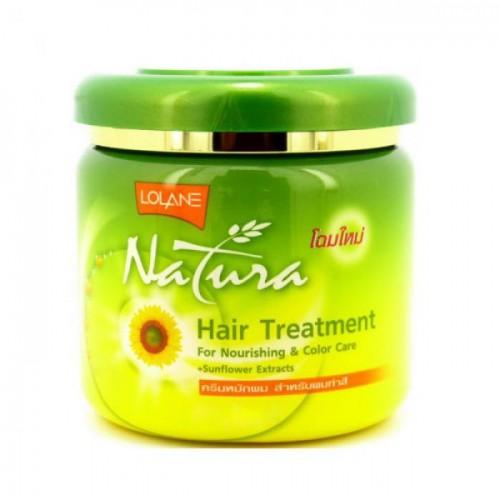"""Маска для волос с экстрактом подсолнечника """"Питание и Защита цвета"""" LOLANE NATURA 100 гр"""