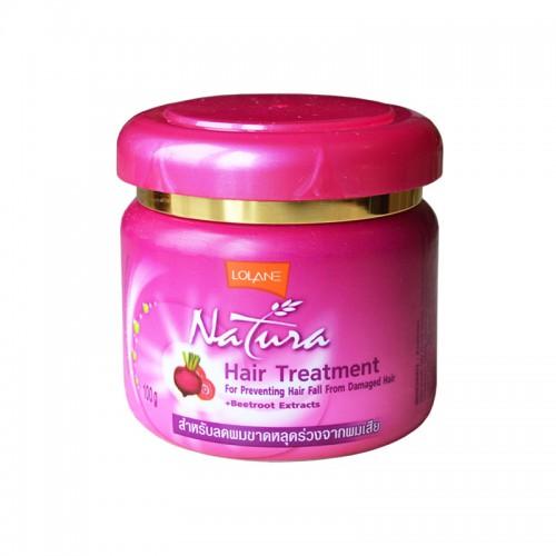 Маска для поврежденных выпадающих волос с экстрактом свеклы LOLANE NATURA 100 гр