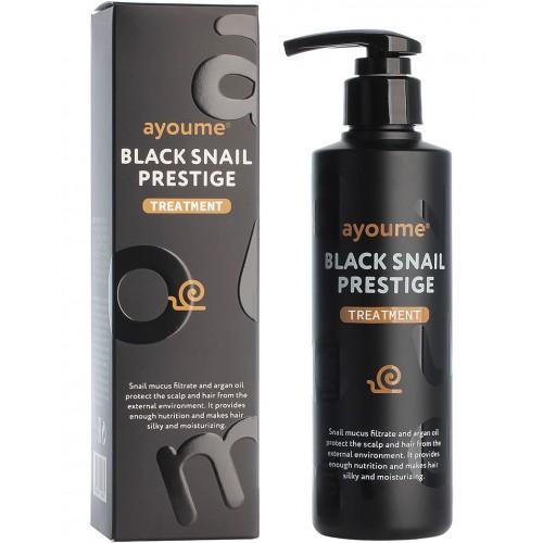 Маска для волос с муцином улитки AYOUME BLACK SNAIL PRESTIGE TREATMENT