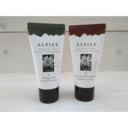 Шампунь без сульфатов и силиконов увлажнение и питание волос Alpist Edelweiss Shampoo 50 мл