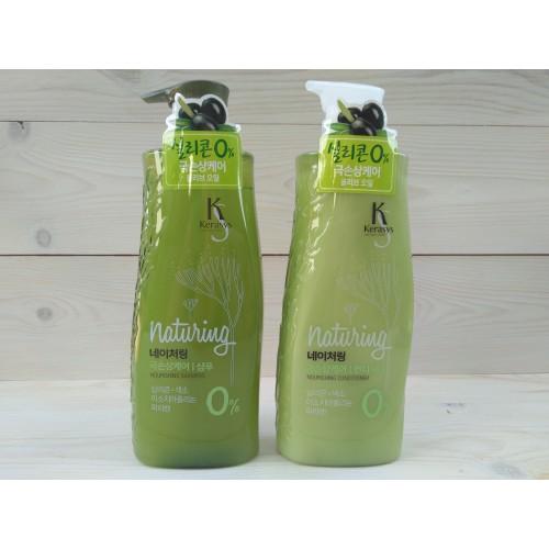 Шампунь для волос НЭЙЧЕРИН ПИТАНИЕ с морскими водорослями и оливковым маслом
