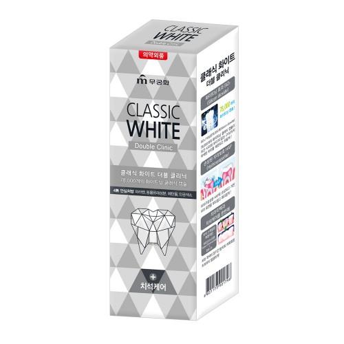 Зубная паста «Classic White» -Отбеливающая зубная паста двойного действия с микрогранулами с ароматом мяты