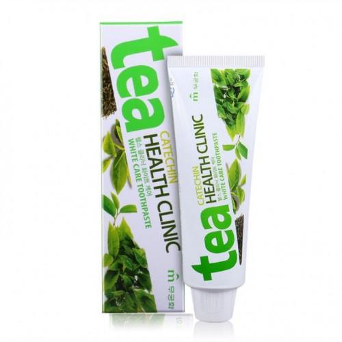 Зубная паста отбеливающая с экстрактом зеленого чая Mukunghwa Tea Catechin Health Clinic