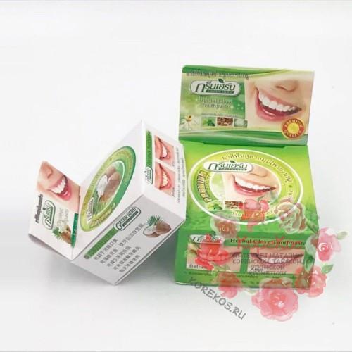 Зубная паста GREEN HERB + бонус мини упаковка 10 г