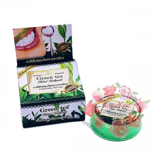 Зубная паста зеленый чай Rochjana