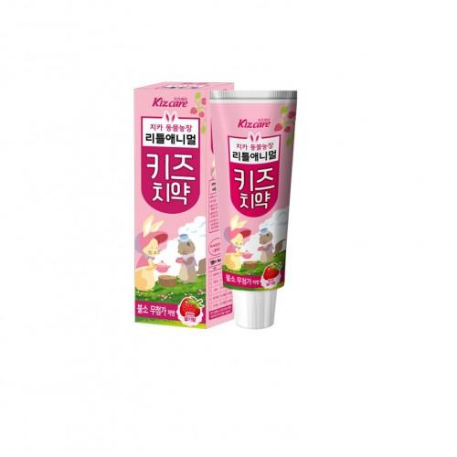 Детская зубная паста с ярким вкусом клубники «Kizcare» (без фтора)