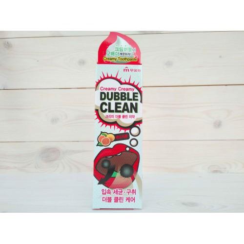 Кремовая зубная паста с очищающими пузырьками и экстрактом красного грейпфрута Creamy Dubble Clean
