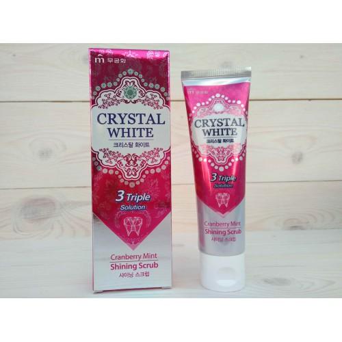 Отбеливающая зубная паста с ароматом клюквы и мяты Crystal White