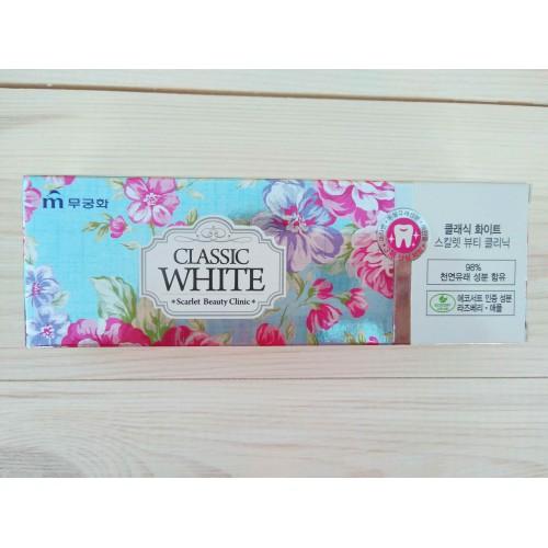 Отбеливающая зубная паста с ароматом мяты и ягод Classic White Scarlet Beauty Clinic