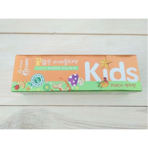 Детская зубная паста с ярким тропическим вкусом Kizcare Kids Toothpaste (Punch)