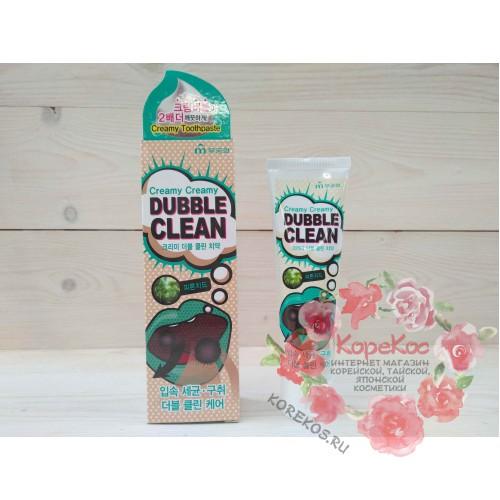 Кремовая зубная паста с очищающими пузырьками и фитонцидами Mukunghwa Dubble Clean