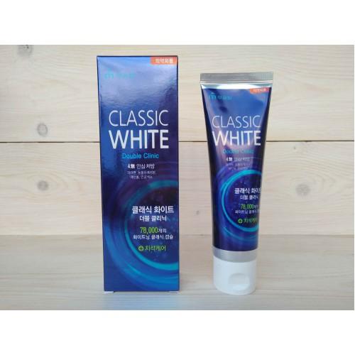Отбеливающая зубная паста двойного действия с микроганулами с ароматом мяты Classic White