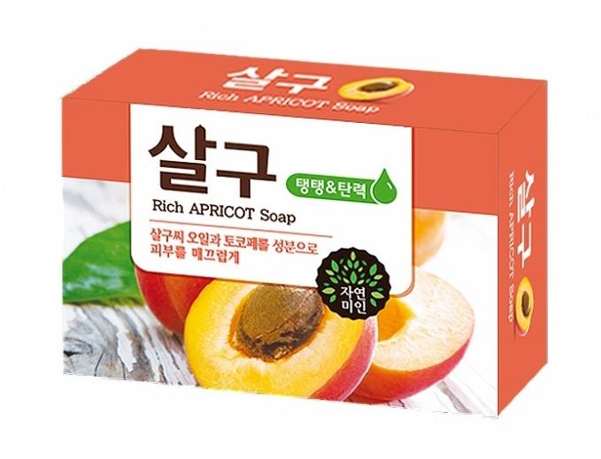 Косметическое мыло из Кореи с абрикосом
